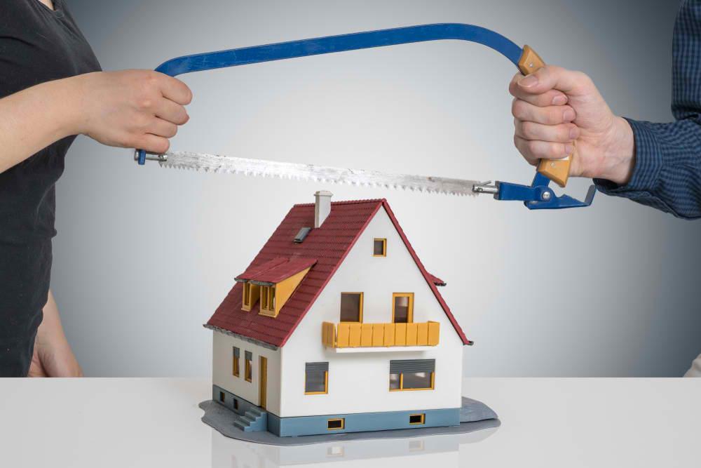 dividing a property after divorce